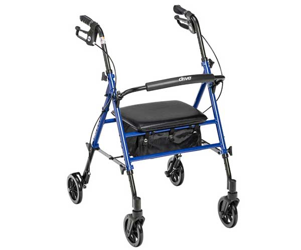 """Product - Mobility Aids - 4 Wheeled Walker Seat 6"""" - Item #RTL10261"""